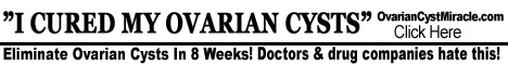 ovarian cyst cure article